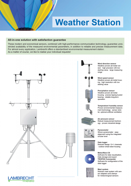 Weather station: all-in-one solution ·